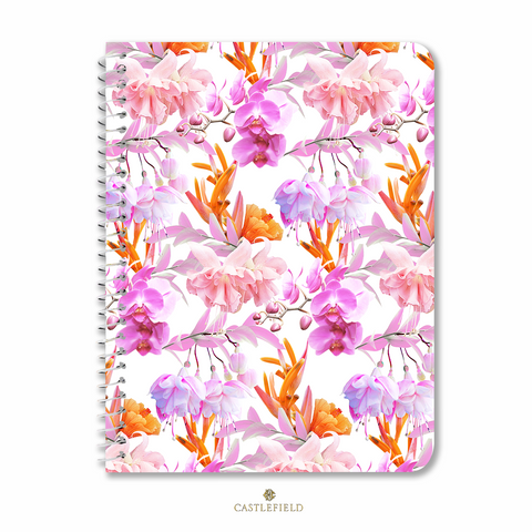 Tropical Bahamas Orange Lilac Notebooks & Journals