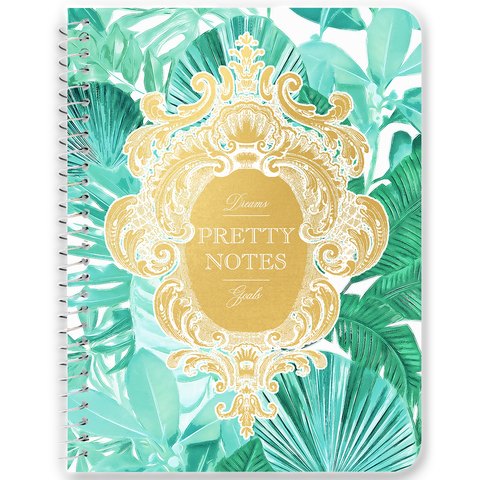 Pretty Notes Green Tropical Notebooks & Journals