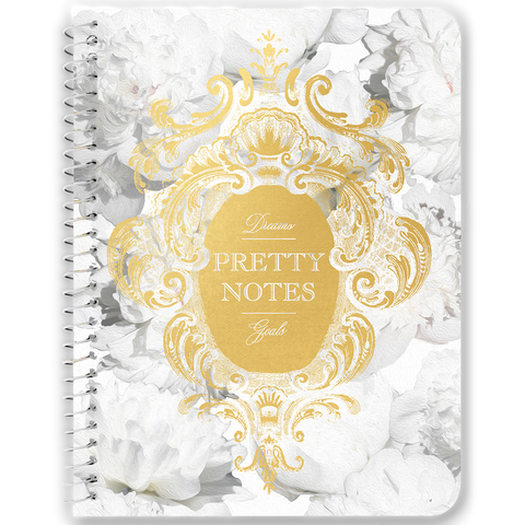 Pretty Notes White Peonies Notebooks & Journals