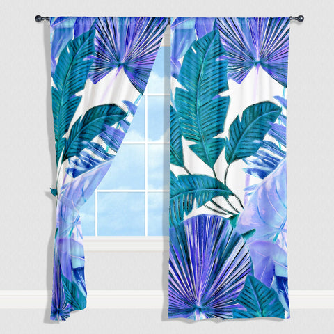 Cool Tropical Window Curtain