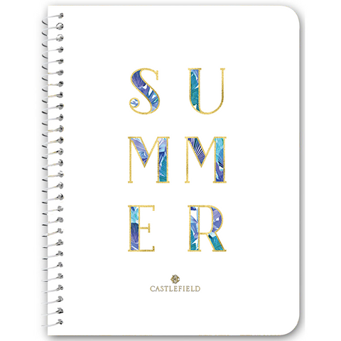Summer Typography Notebooks & Journals - 5 Color Options