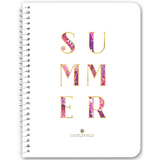 Summer Tropical Typography Notebooks & Journals - 5 Color Options
