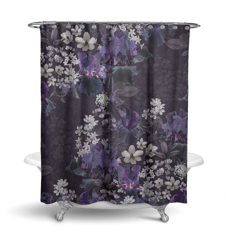 Lalia Dark Floral Shower Curtain