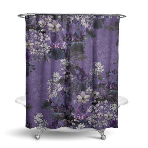 Lalia Lilac Floral Shower Curtain