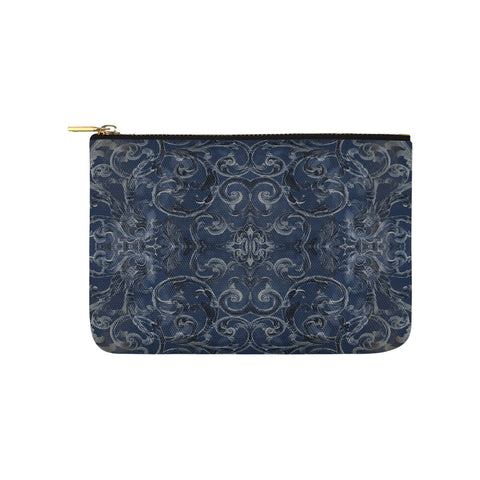Antique Thai Pattern Dark Blue Clutch