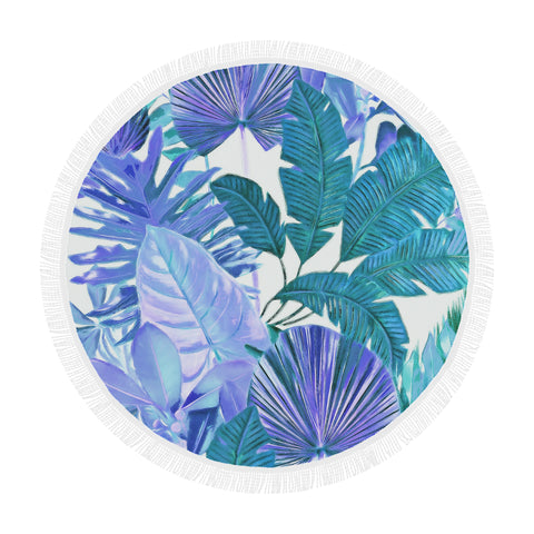 Cool Tropical Round Beach Blanket