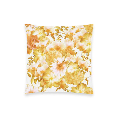 Yellow Romantic Floral Pillow Case