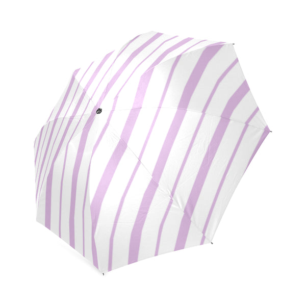 Lilac Diagonal Stripes Umbrella
