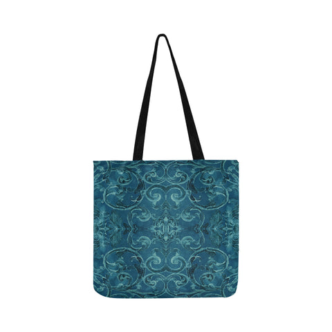 Antique Thai Pattern Teal Tote Bag