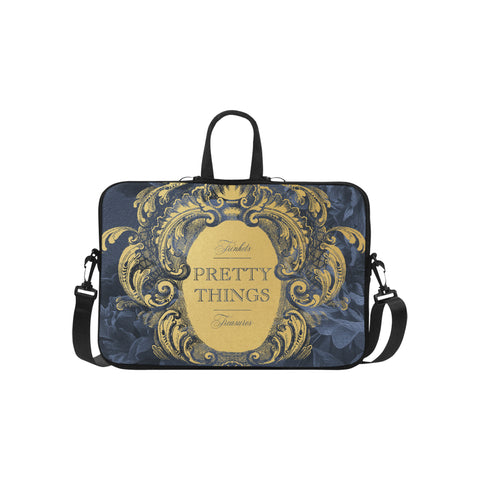 Pretty Things Blue Laptop Bag 15.6""