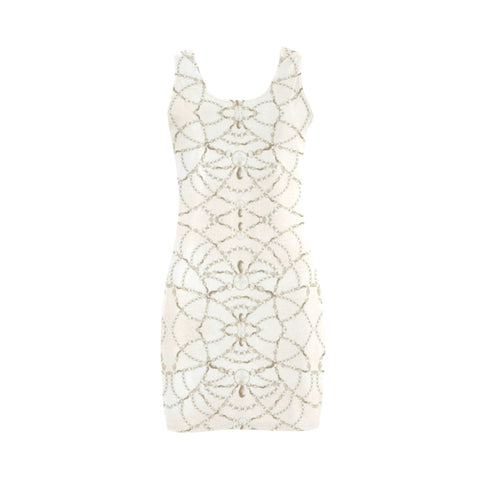 Beaded Pearls Mini Bodycon Dress