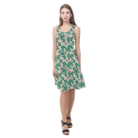 Tropical Bramble Fit and Flare Dresses - 12 Color Options
