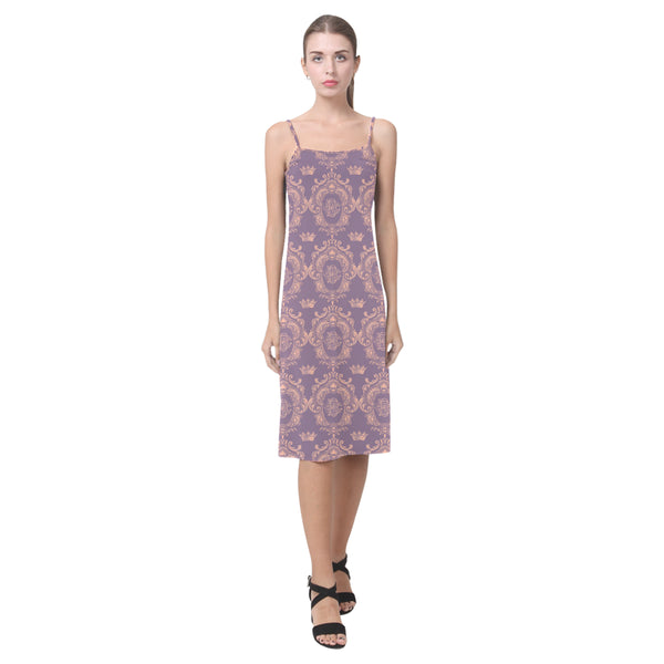 Lavender Pink Castlefield Pattern Slip Dress