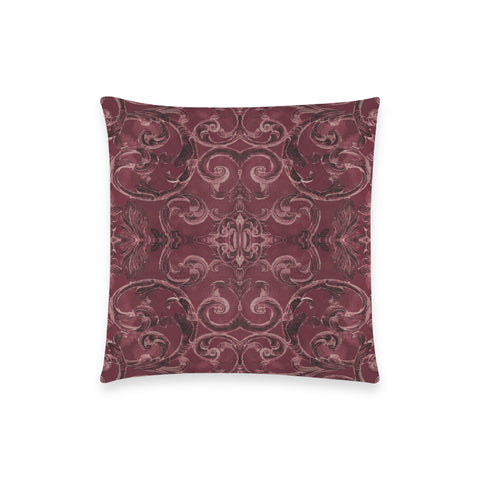 Antique Thai Pattern Burgundy Pillow Case