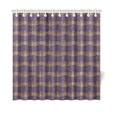 Marble Draped Jewels Shower Curtains