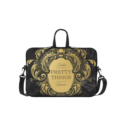 Pretty Things Black Laptop Bag 15.6""