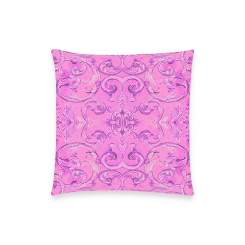 Antique Thai Pattern Pink Pillow Case
