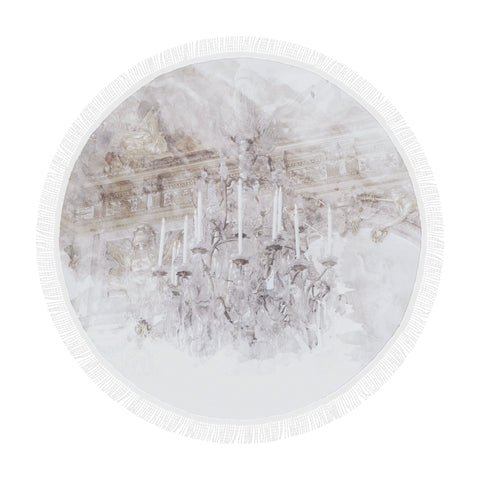 Palace Chandelier Round Beach Blanket