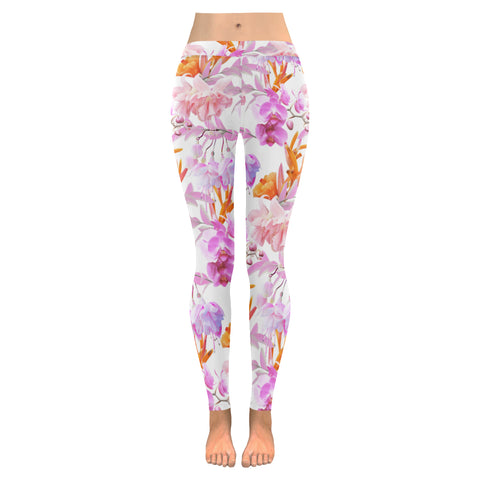 Tropical Bahamas Orange Lilac Leggings