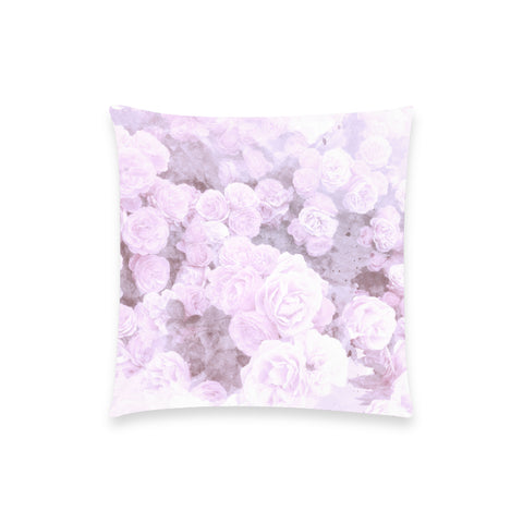 Lilac Watercolor Floral Pillow Case