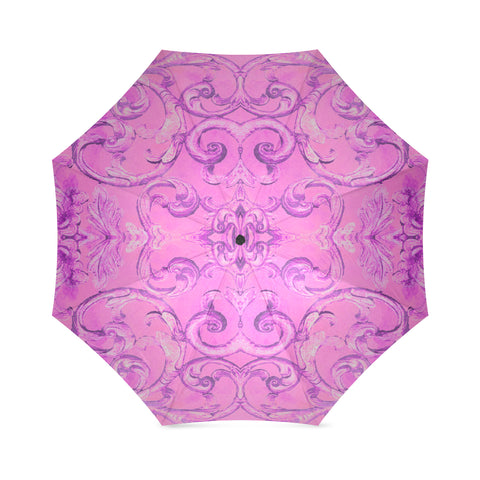 Antique Thai Pattern Pink Umbrella