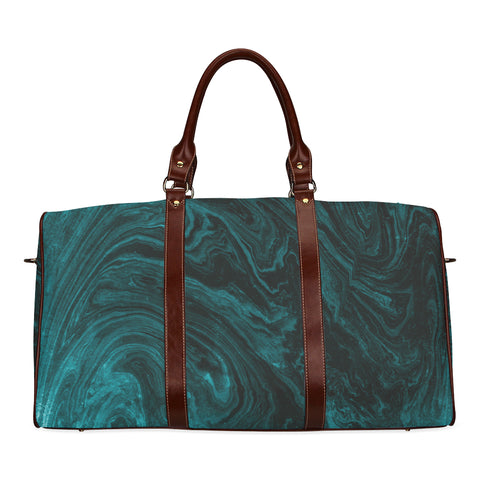 Emerald Green Marble Travel Bags