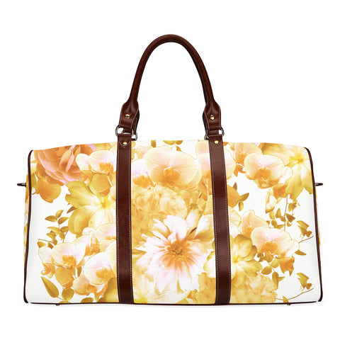 Yellow Romantic Floral Travel Bags