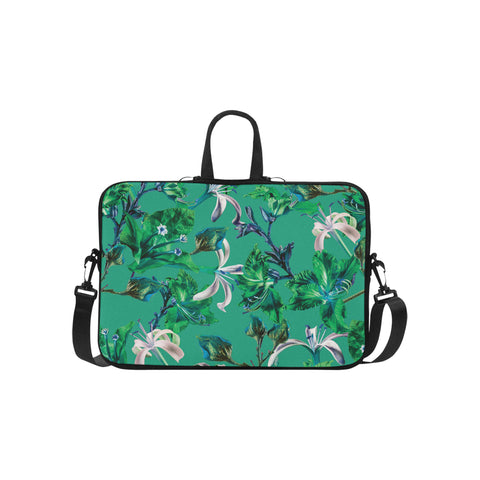 Green Tropical Bramble Laptop Bag 15.6""