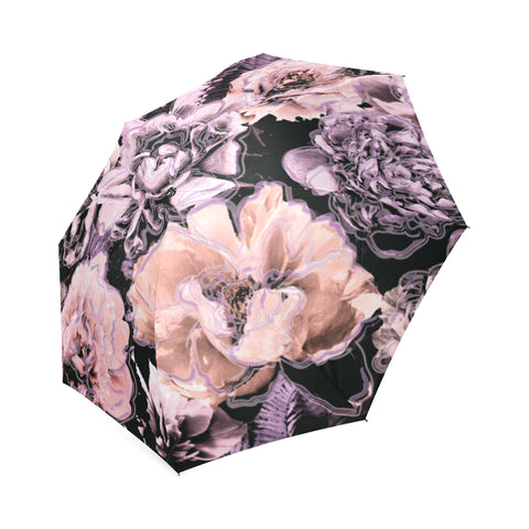 Bold Floral Purple Umbrella