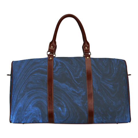 Sapphire Blue Marble Travel Bags