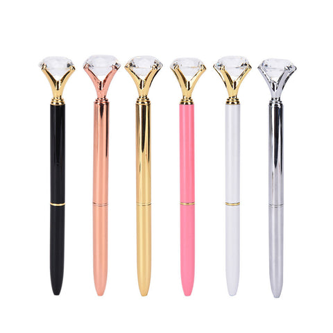 Diamond Crystal Ball Point Pens - 14 Colors