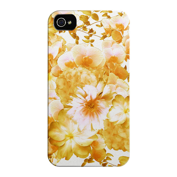 Yellow Romantic Floral iPhone Cases