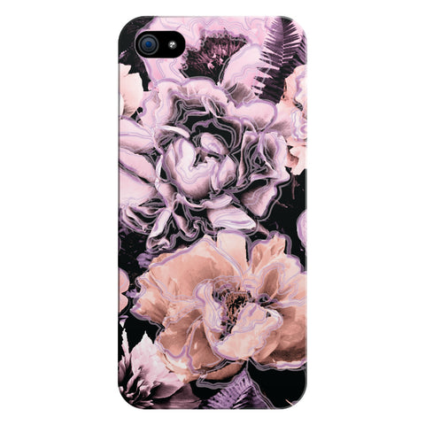 Bold Floral Purple Glossy iPhone Case