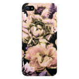 Bold Floral Gold Glossy iPhone Case