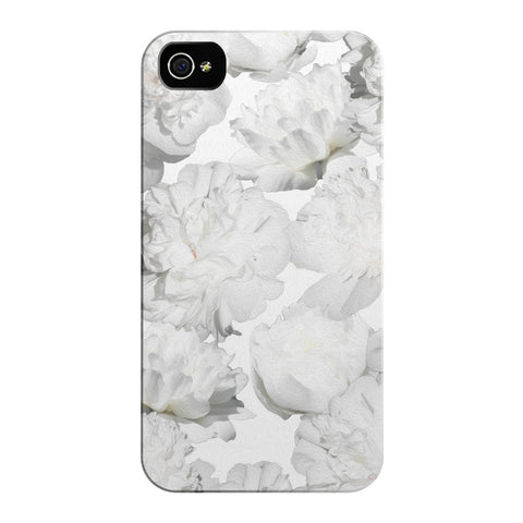 White Peonies iPhone Cases