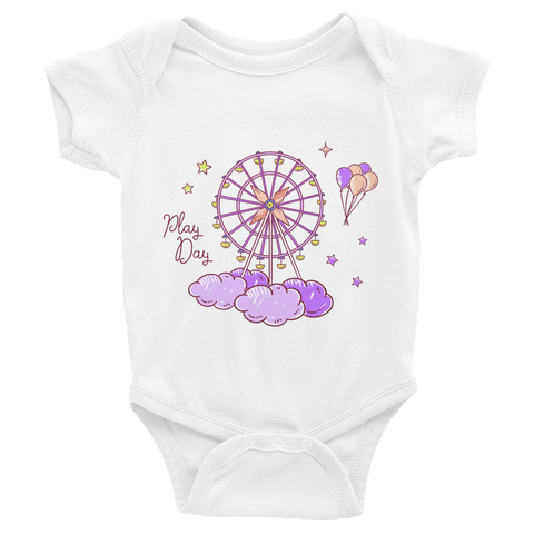 NAHLI Play Day Purple Baby Bodysuit