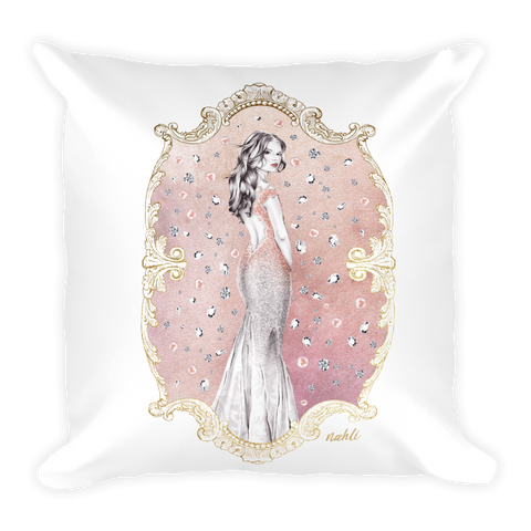 At the Ball, Pink Pillow