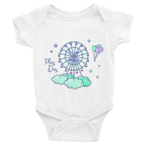 NAHLI Play Day Green Baby Bodysuit