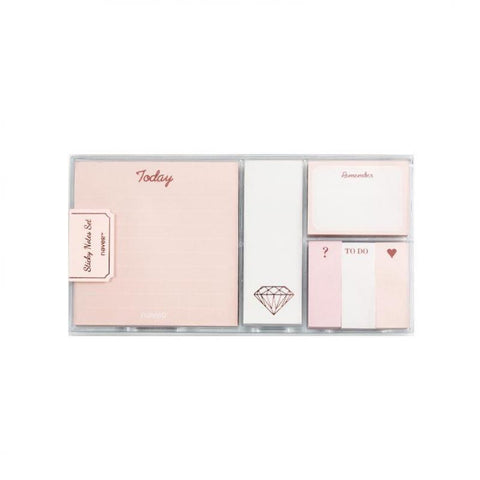 Rose Gold Sticky Notes Set