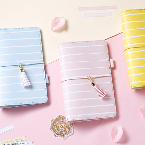 Colorful Striped Travel Journals