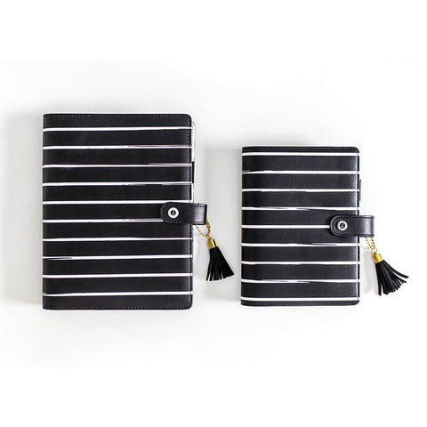 Black and White Striped Planners, A5 and A6