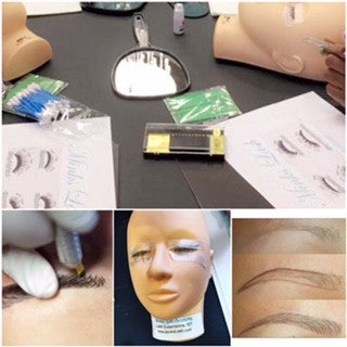 Choosing a lash extension or microblading training class