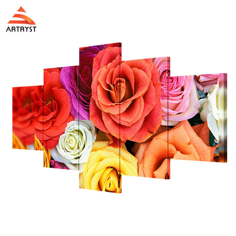 Wall Art Printed Canvas with frame HD Picutre for Home Wall Decoration FLR012