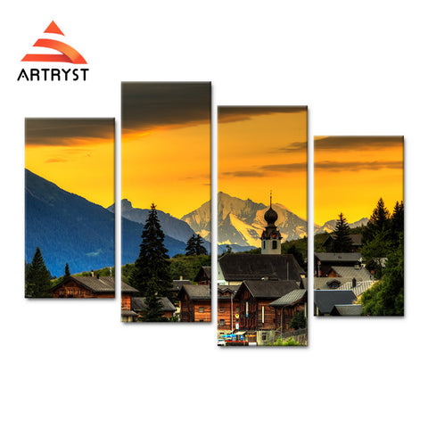 Framed Canvas Print Art Painting HD Picture for Home Wall Decoration WJF003