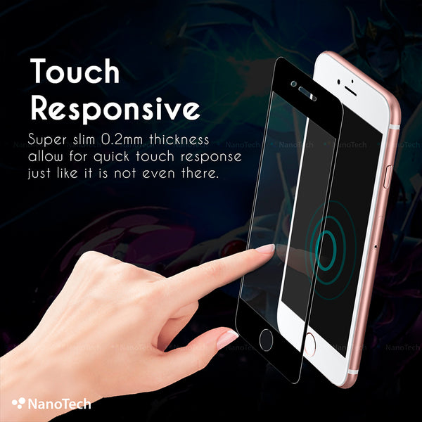 NanoTech® Full Coverage Fine Matte Tempered Glass for APPLE