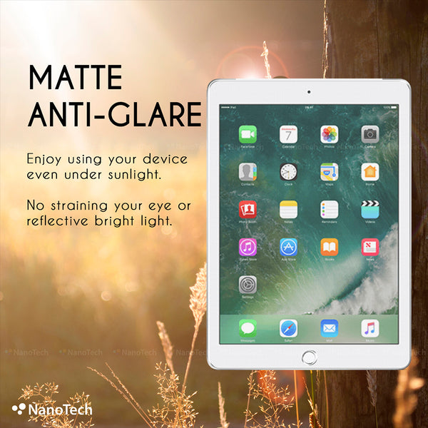 NanoTech® Fine Matte Anti-glare Tempered Glass for iPad