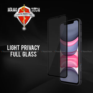 NanoTech® Full Light Privacy Tempered Glass for Apple iPhone