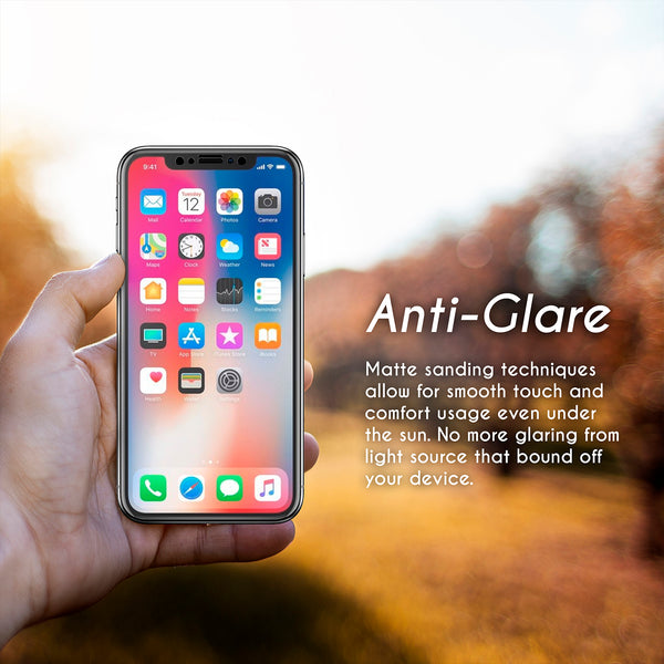 NanoTech® Full Fine Matte Tempered Glass for Apple iPhone