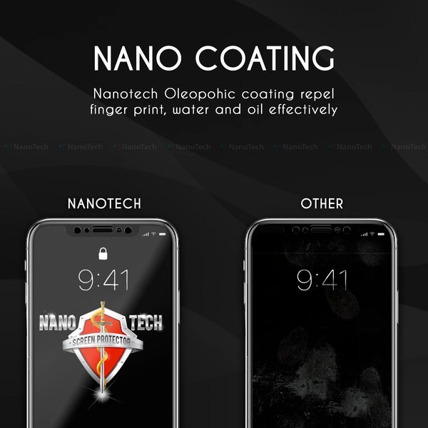 NanoTech® Full Coverage Tempered Glass Screen Protector
