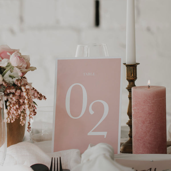 TROPICS TABLE NUMBER PINK
